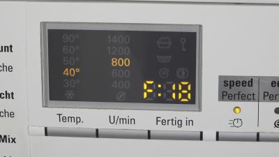 Waschmaschine Fehlermeldung F18 - Ablaufpumpe verstopft (Siemens)