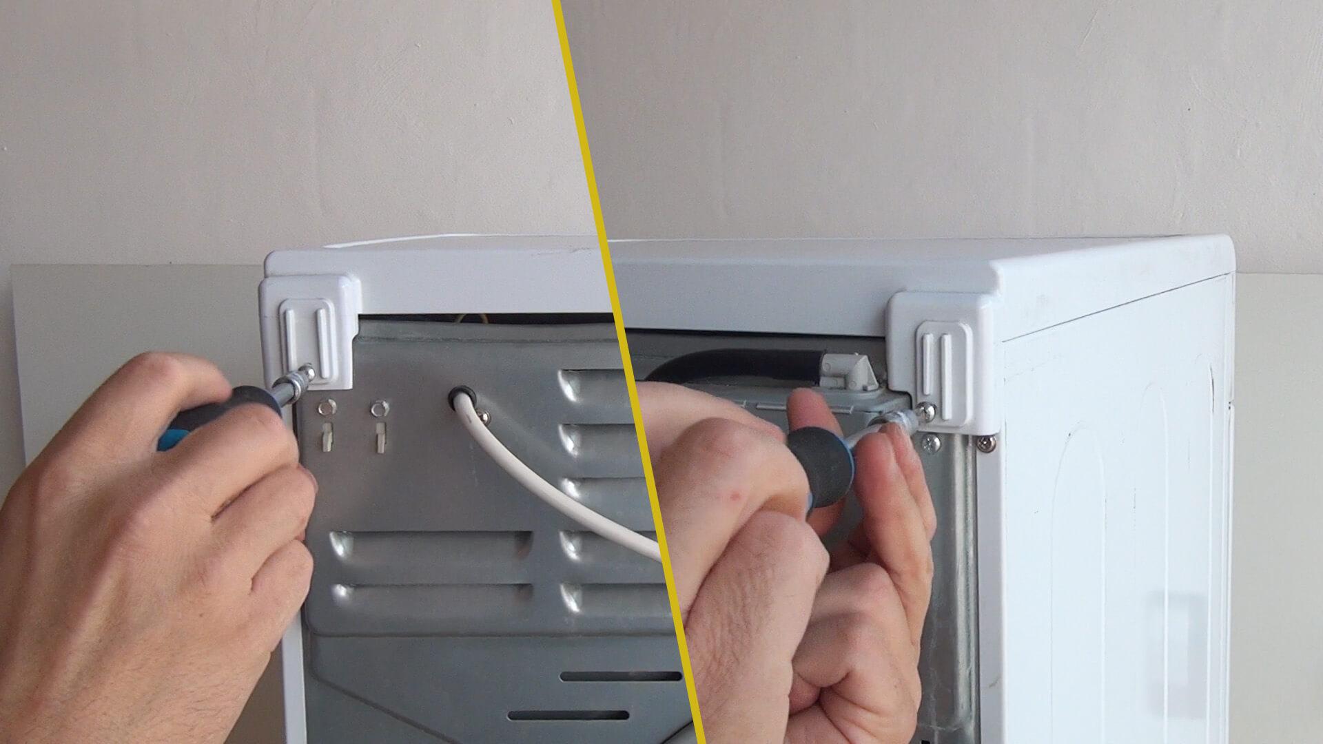 Gerätedeckel abschrauben