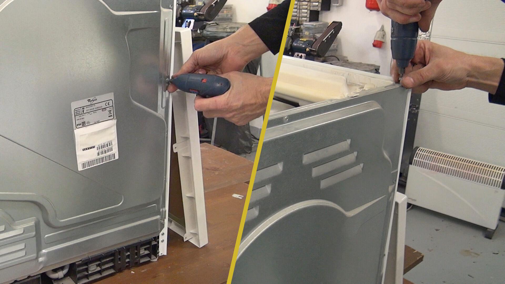 Schrauben der rückseitigen Gehäusewand entfernen