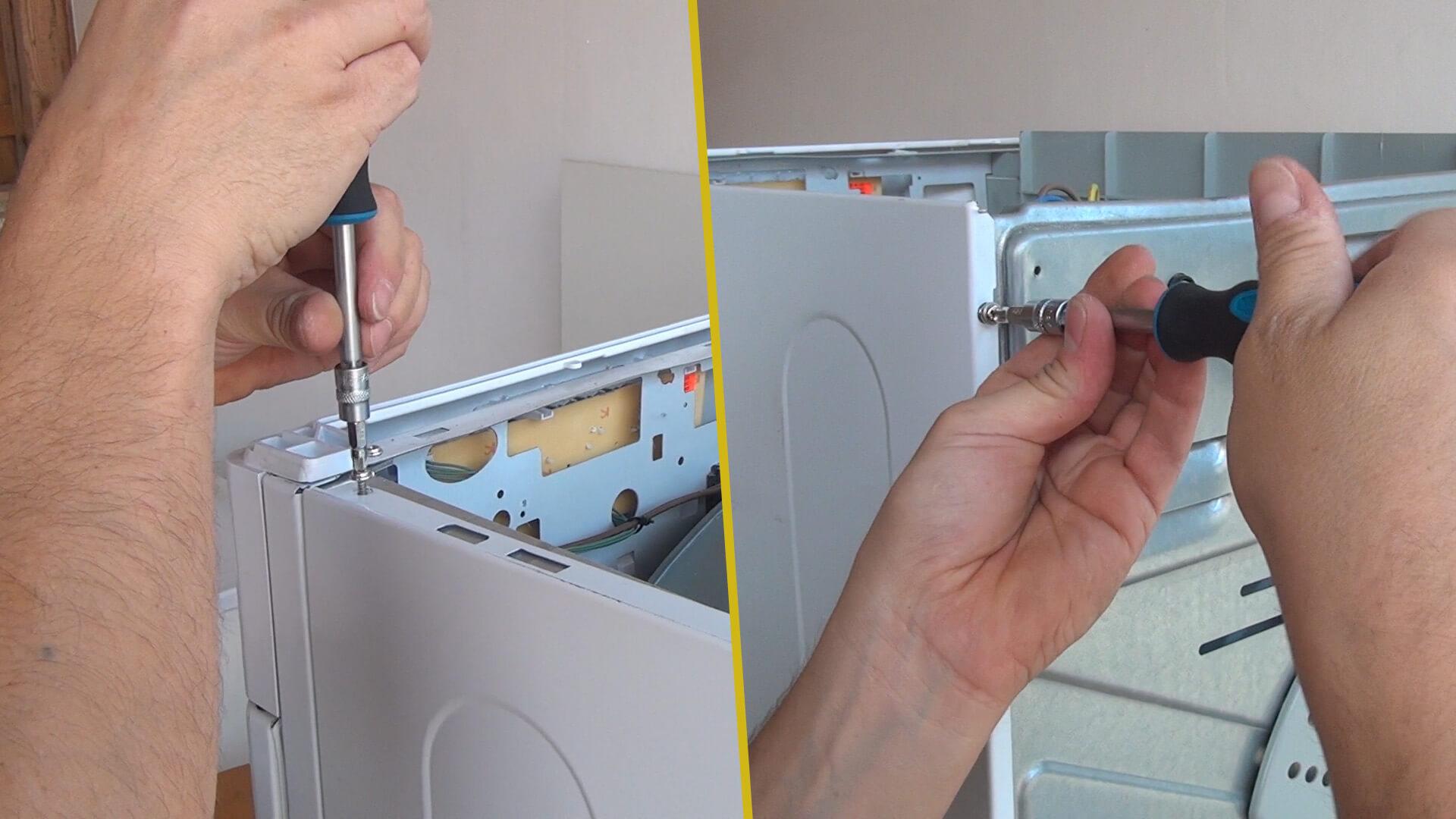 Schrauben des rechten Seitendeckels entfernen