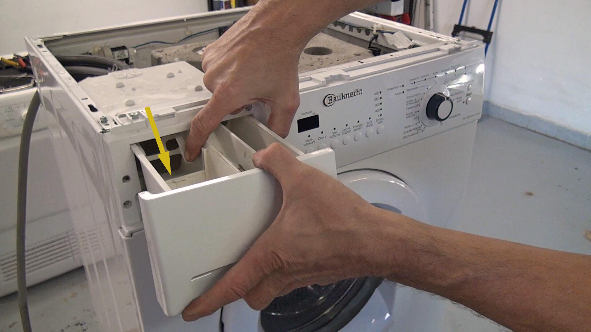 Waschmittelschublade entfernen