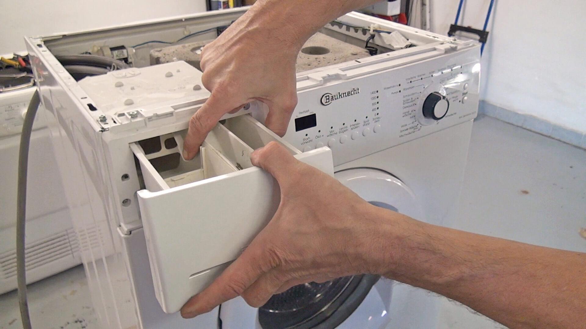 Waschmittellade entfernen
